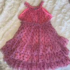 Hartstrings, pink and black layered tulle dress